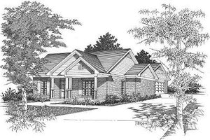 Cottage Exterior - Front Elevation Plan #329-163