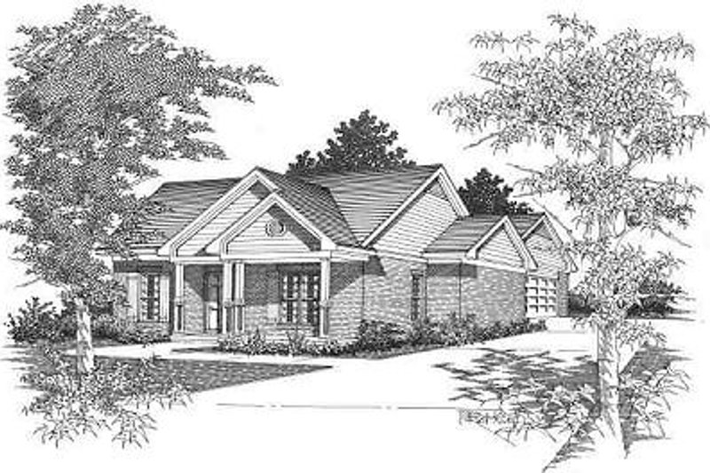 Cottage Style House Plan - 2 Beds 2 Baths 1212 Sq/Ft Plan #329-163 Exterior - Front Elevation