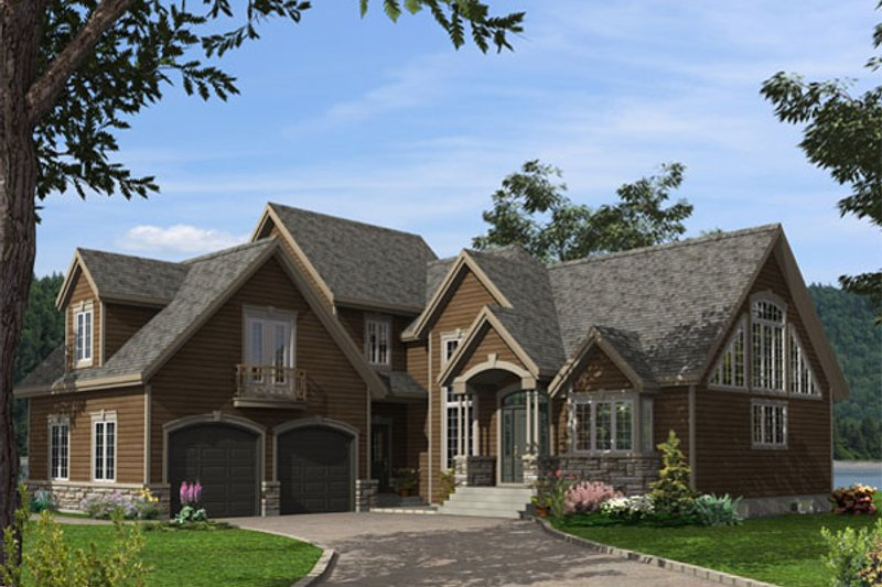 Traditional Style House Plan - 3 Beds 2.5 Baths 2657 Sq/Ft Plan #138-381 Exterior - Front Elevation