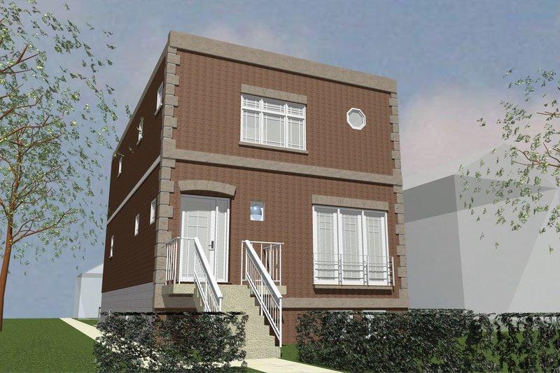 Modern Style House Plan - 3 Beds 4.5 Baths 1920 Sq/Ft Plan #535-2