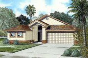 Mediterranean Style House Plan - 4 Beds 3 Baths 1924 Sq/Ft Plan #420-117 Exterior - Front Elevation