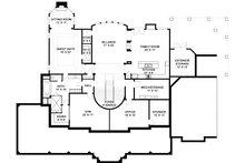Southern Floor Plan - Lower Floor Plan Plan #119-198