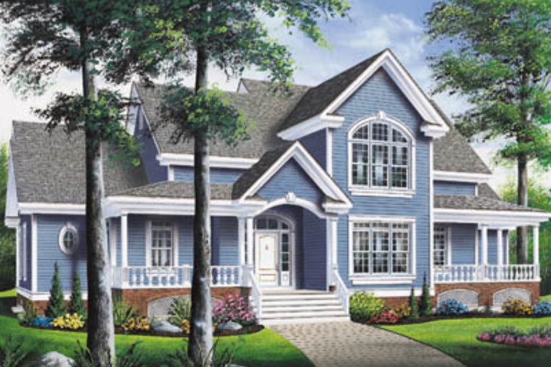 Country Exterior - Front Elevation Plan #23-234