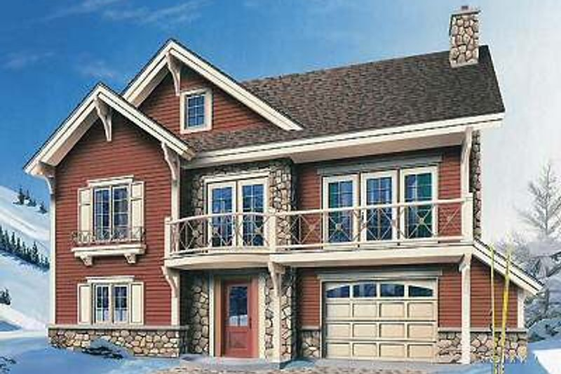 Traditional Exterior - Front Elevation Plan #23-453 - Houseplans.com