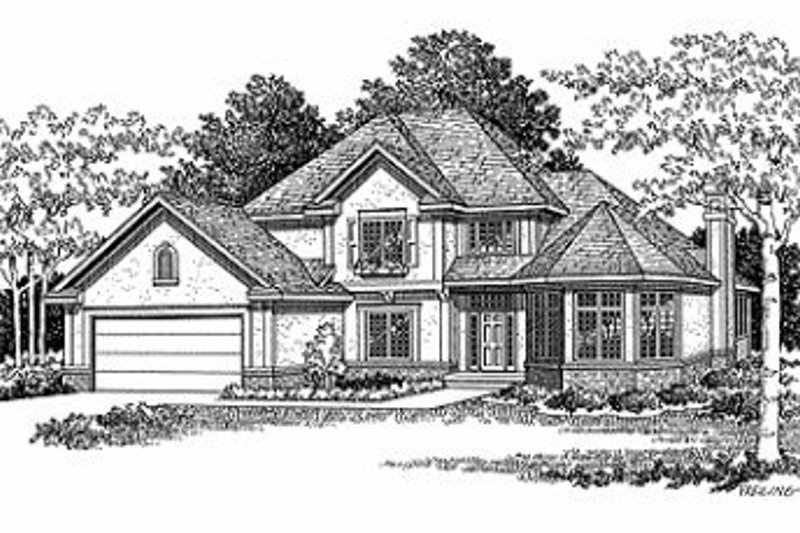 Traditional Exterior - Front Elevation Plan #70-396