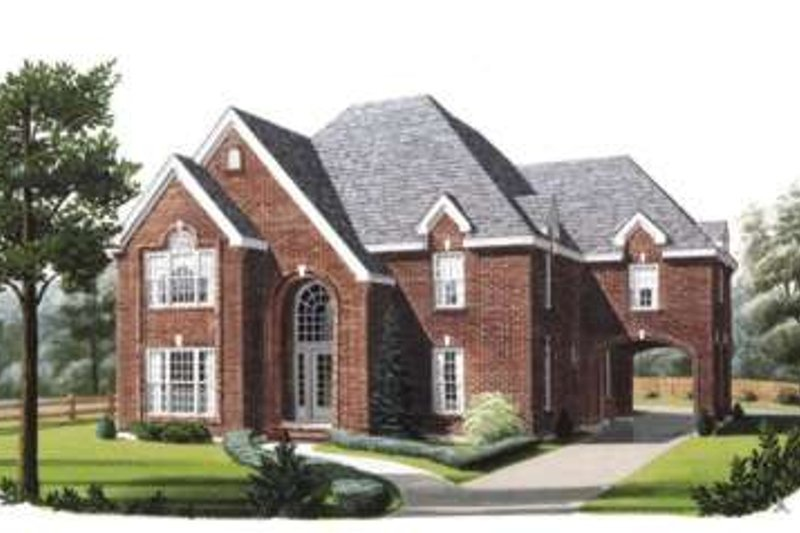 Dream House Plan - European Exterior - Front Elevation Plan #410-405
