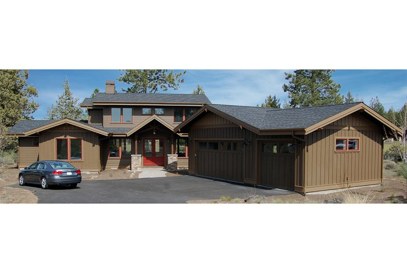 Craftsman Style House Plan - 3 Beds 2.5 Baths 3078 Sq/Ft Plan #895-12 Exterior - Front Elevation