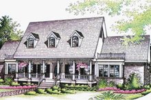 Southern Exterior - Front Elevation Plan #45-144