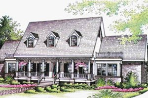 Architectural House Design - Southern Exterior - Front Elevation Plan #45-144