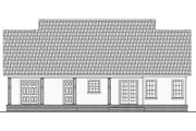 Ranch Style House Plan - 3 Beds 2 Baths 1476 Sq/Ft Plan #21-450 Exterior - Rear Elevation