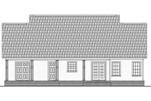 Home Plan - Ranch Exterior - Rear Elevation Plan #21-450