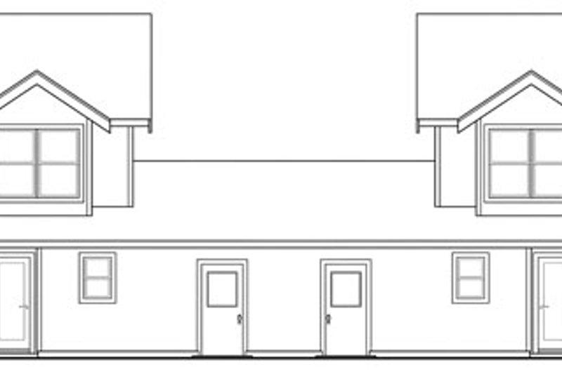 Craftsman Exterior - Rear Elevation Plan #124-812 - Houseplans.com
