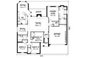 Traditional Style House Plan - 4 Beds 2 Baths 2140 Sq/Ft Plan #84-626 Floor Plan - Main Floor Plan