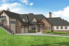 Architectural House Design - European Exterior - Front Elevation Plan #124-1200