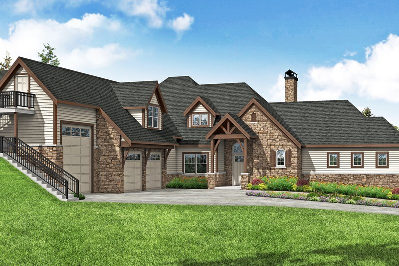 Home Plan - European Exterior - Front Elevation Plan #124-1200