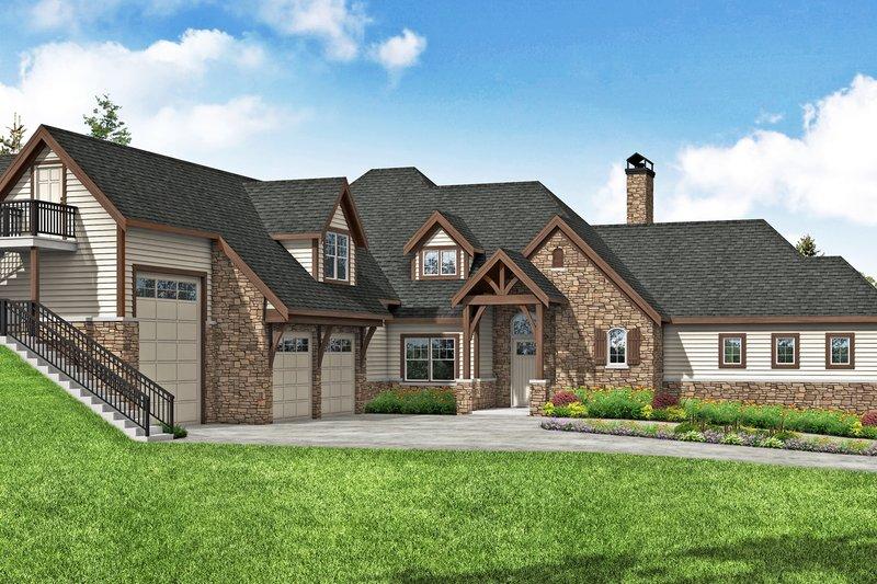House Plan Design - European Exterior - Front Elevation Plan #124-1200