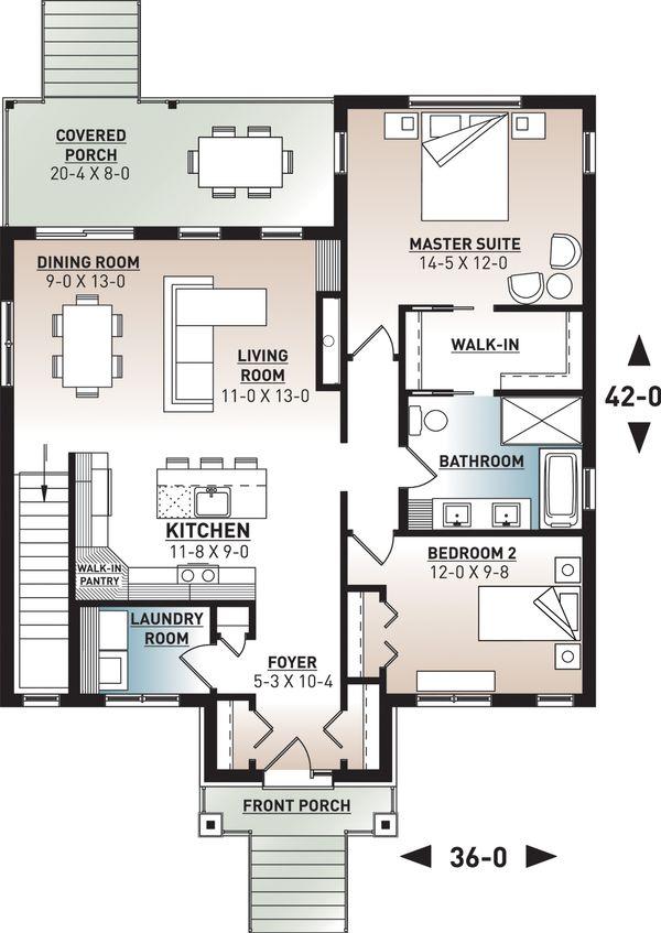 Farmhouse Floor Plan - Main Floor Plan Plan #23-2716