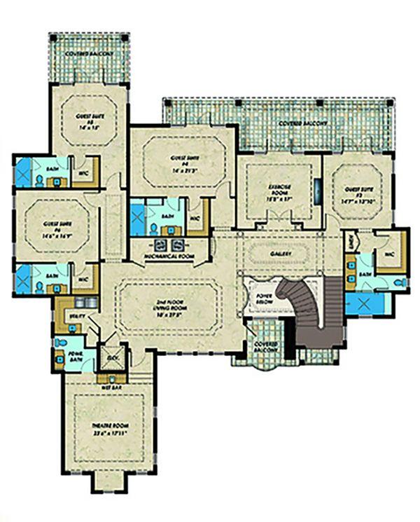 Contemporary Floor Plan - Upper Floor Plan #548-27