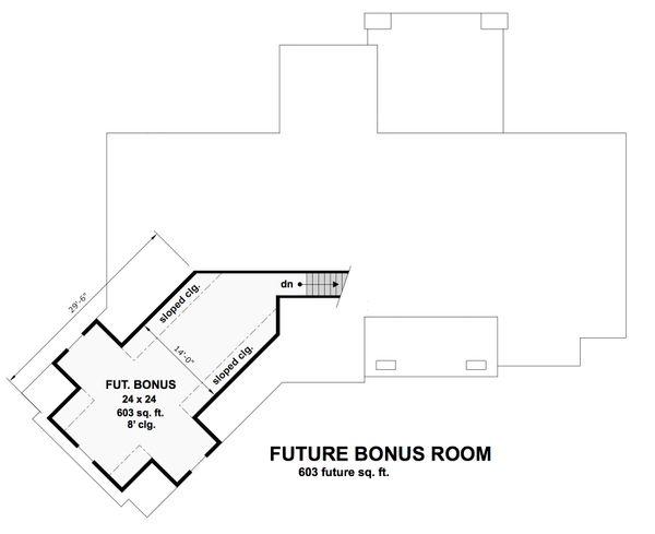 Craftsman Floor Plan - Upper Floor Plan Plan #51-569