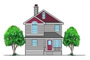 Traditional Style House Plan - 4 Beds 3 Baths 1524 Sq/Ft Plan #515-22 Exterior - Front Elevation