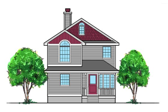 Traditional Exterior - Front Elevation Plan #515-22
