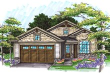 Ranch Exterior - Front Elevation Plan #70-1025