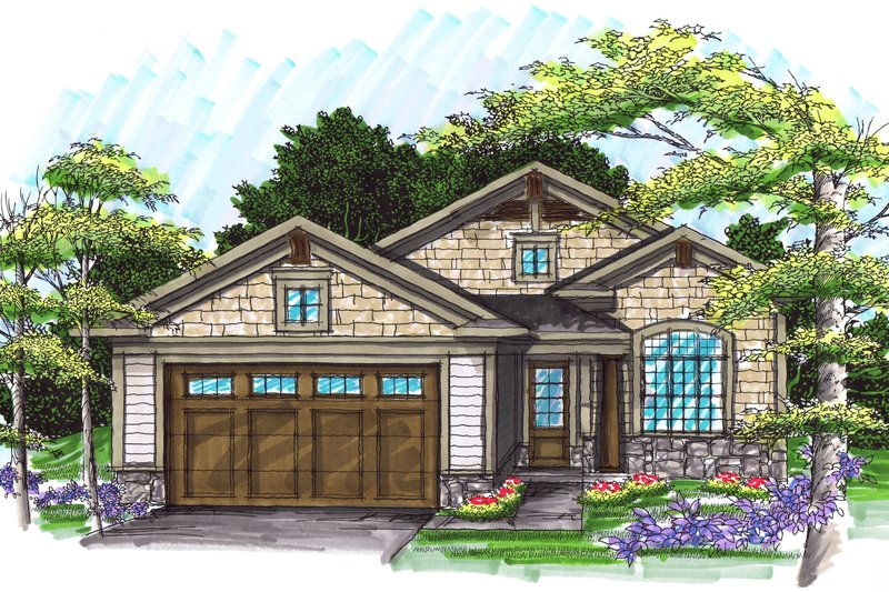 Home Plan - Ranch Exterior - Front Elevation Plan #70-1025
