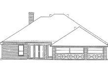 Cottage Exterior - Rear Elevation Plan #310-702