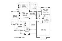 Craftsman Floor Plan - Main Floor Plan Plan #929-1051