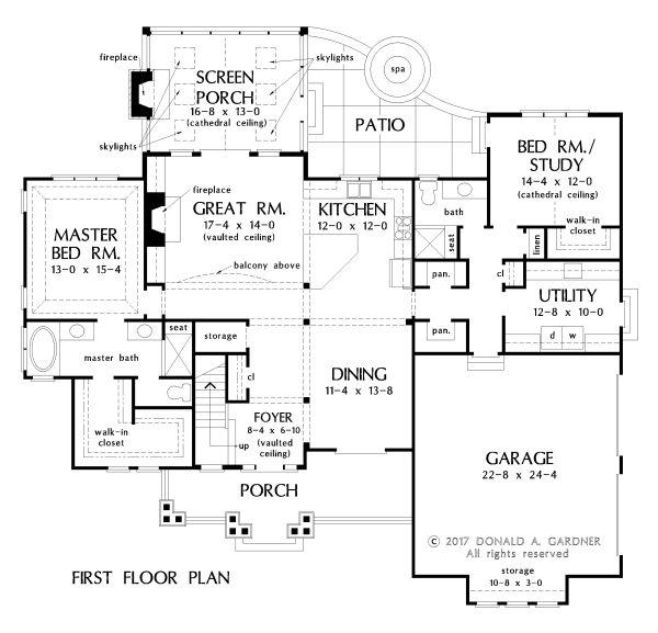 House Plan Design - Craftsman Floor Plan - Main Floor Plan #929-1051