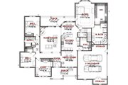 Traditional Style House Plan - 3 Beds 2.5 Baths 2785 Sq/Ft Plan #63-311 Floor Plan - Main Floor Plan