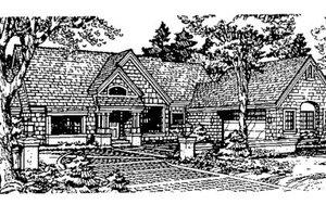 Craftsman Exterior - Front Elevation Plan #320-364