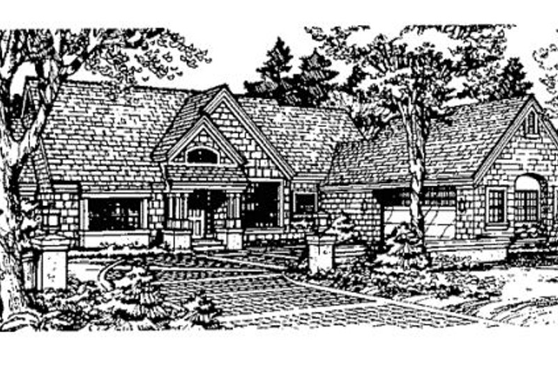 Craftsman Style House Plan - 2 Beds 2 Baths 1879 Sq/Ft Plan #320-364 Exterior - Front Elevation