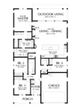 Farmhouse Style House Plan - 4 Beds 2.5 Baths 2009 Sq/Ft Plan #48-1041