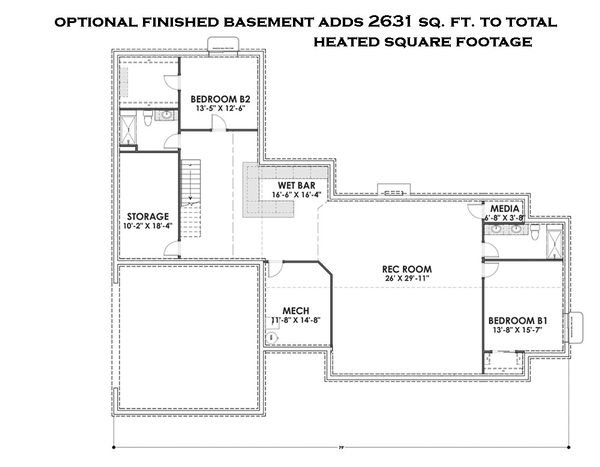 Dream House Plan - Optional Finished Basement