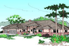 Dream House Plan - Traditional Exterior - Front Elevation Plan #60-178