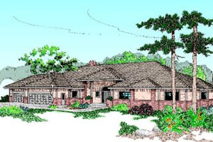 Traditional Exterior - Front Elevation Plan #60-178