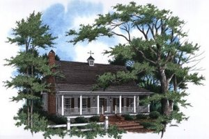 Architectural House Design - Country Exterior - Front Elevation Plan #41-143