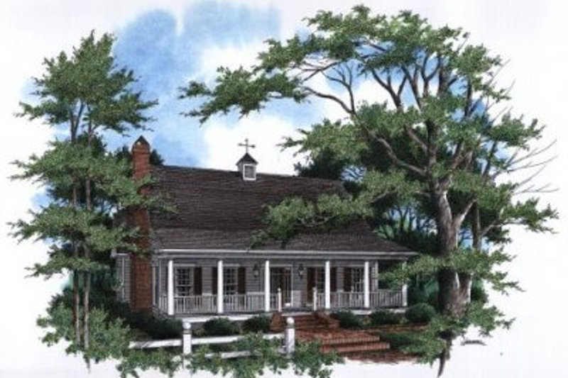 Country Style House Plan - 3 Beds 2.5 Baths 1966 Sq/Ft Plan #41-143 Exterior - Front Elevation