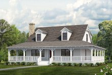 House Blueprint - Farmhouse Exterior - Front Elevation Plan #72-110