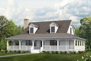 Dream House Plan - Farmhouse Exterior - Front Elevation Plan #72-110