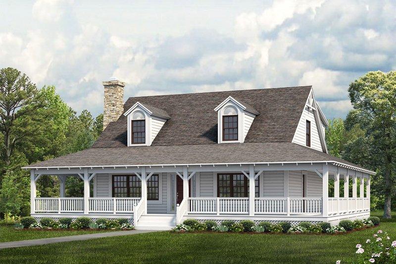 Dream House Plan - Farmhouse Exterior - Front Elevation Plan #72-110