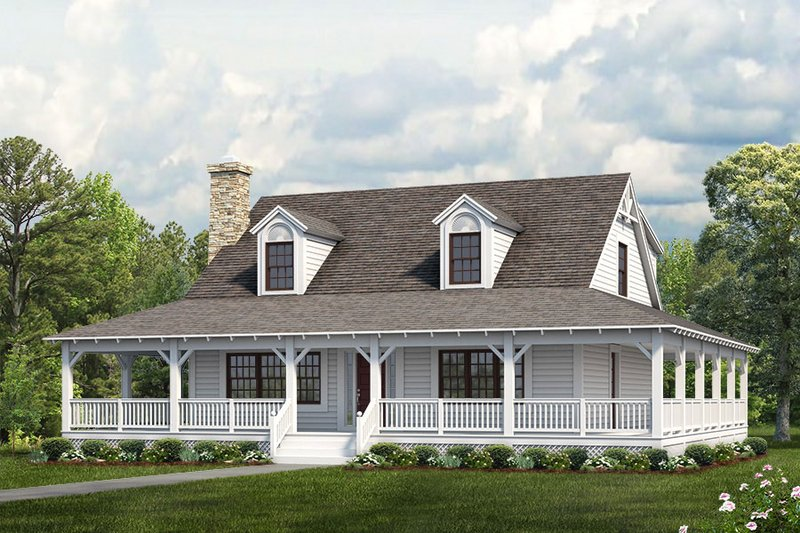 House Plan Design - Farmhouse Exterior - Front Elevation Plan #72-110