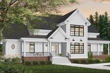 Dream House Plan - Traditional Exterior - Front Elevation Plan #23-329