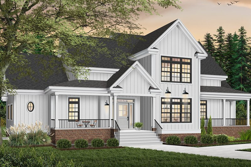 Architectural House Design - Traditional Exterior - Front Elevation Plan #23-329