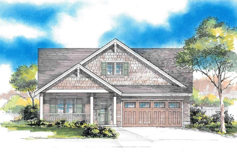 Home Plan - Craftsman Exterior - Front Elevation Plan #53-617