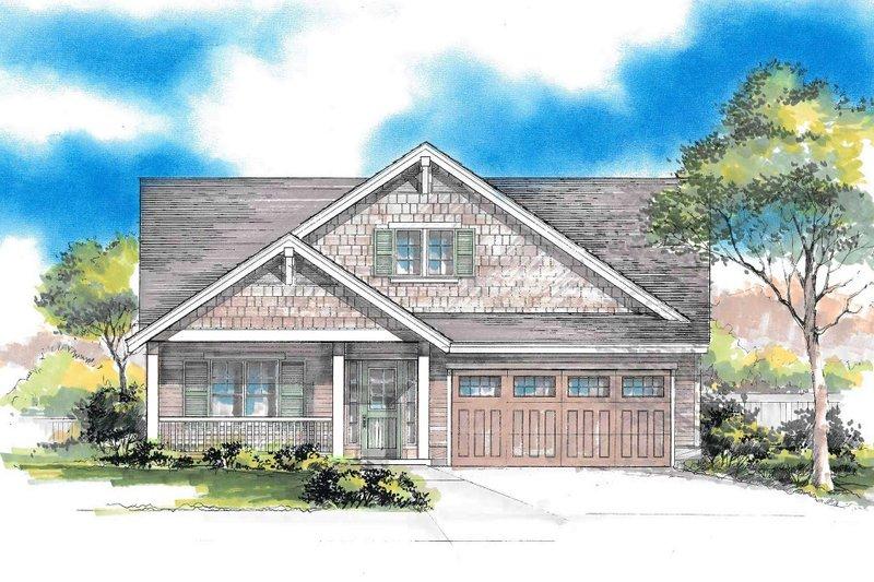 Dream House Plan - Craftsman Exterior - Front Elevation Plan #53-617