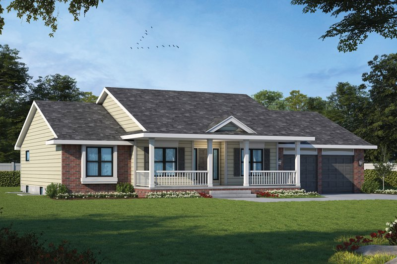 Home Plan - Ranch Exterior - Front Elevation Plan #20-125