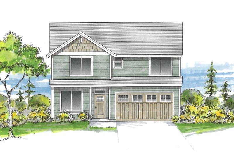House Plan Design - Craftsman Exterior - Front Elevation Plan #53-662