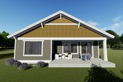 Craftsman Style House Plan - 2 Beds 2 Baths 1378 Sq/Ft Plan #1069-15 Exterior - Rear Elevation